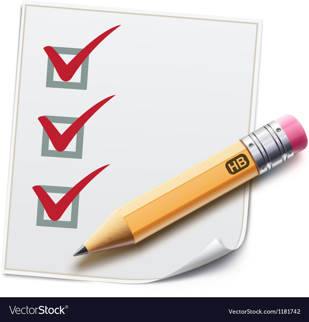Checklist vector | Price: 3 Credit (USD $3)