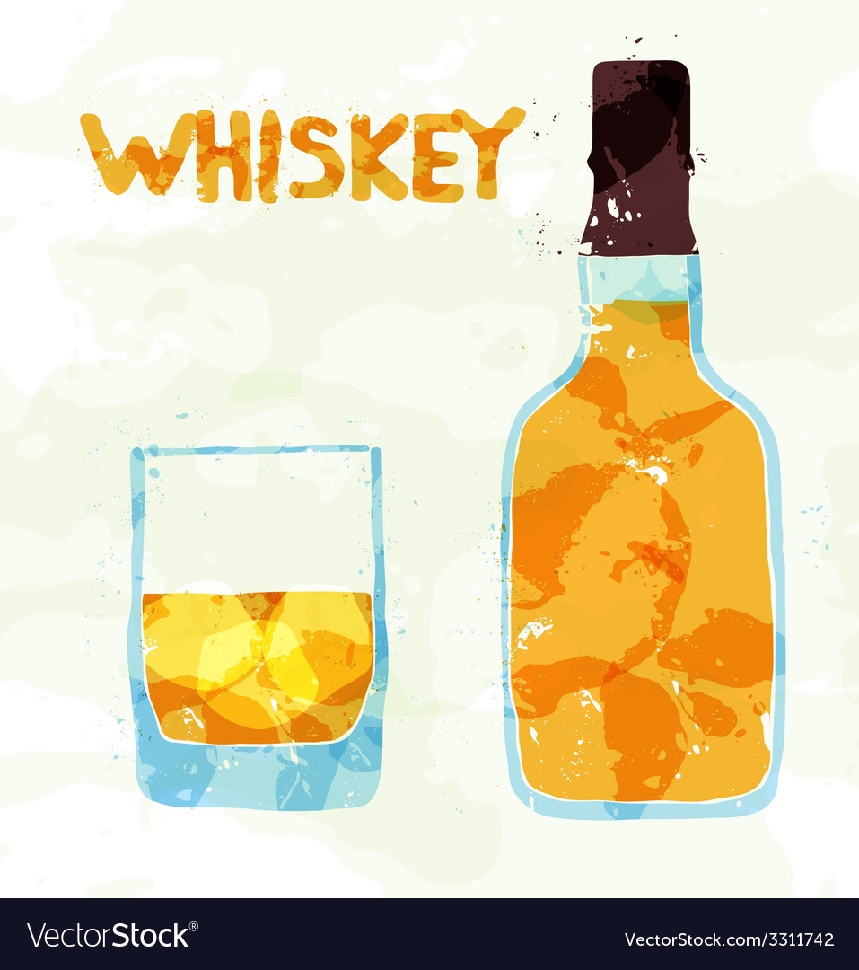 Glass of scotch whiskey vector | Price: 1 Credit (USD $1)