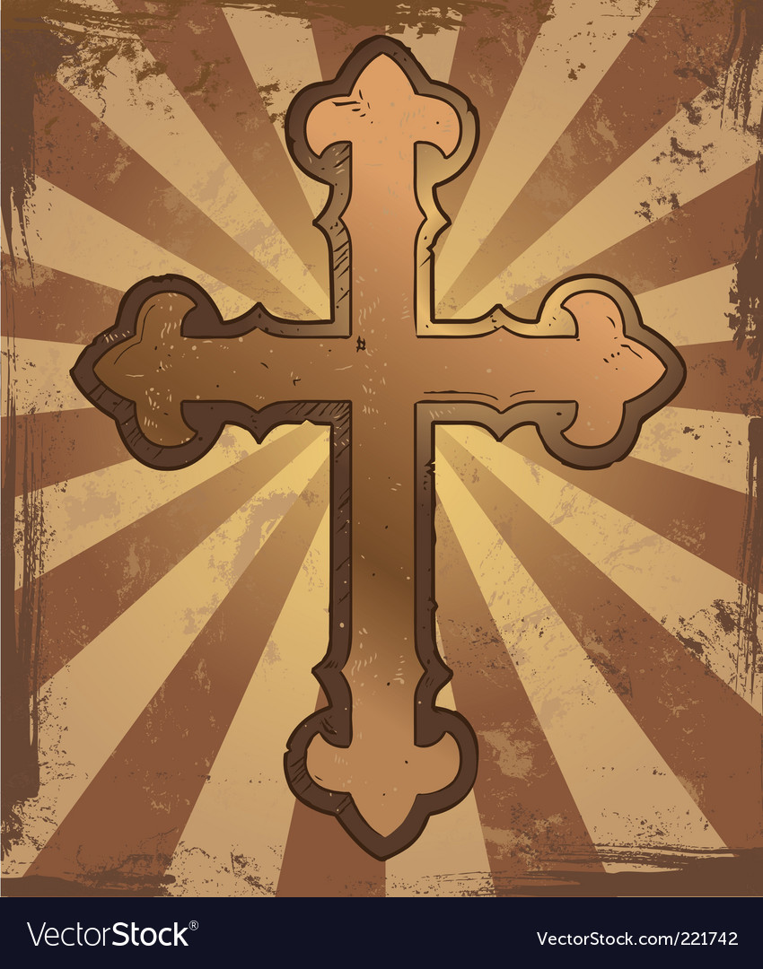 Grunge cross vector | Price: 1 Credit (USD $1)