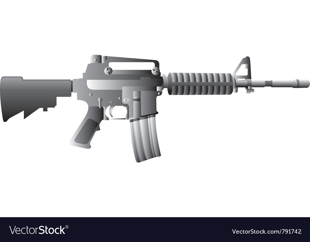 M16 gun vector | Price: 1 Credit (USD $1)