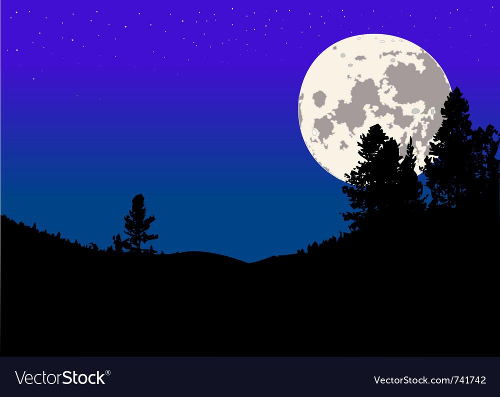 Night moon background vector | Price: 1 Credit (USD $1)
