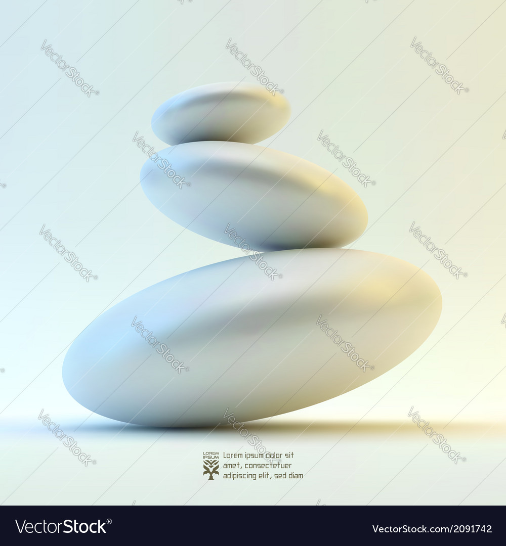 Spa stones vector | Price: 1 Credit (USD $1)
