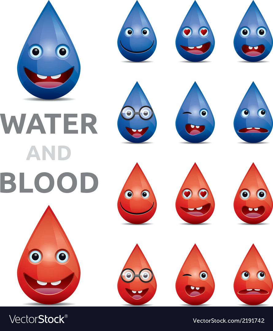 Water and blood vector | Price: 1 Credit (USD $1)