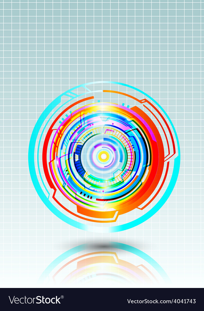 Abstract colorful technology circles background vector | Price: 1 Credit (USD $1)