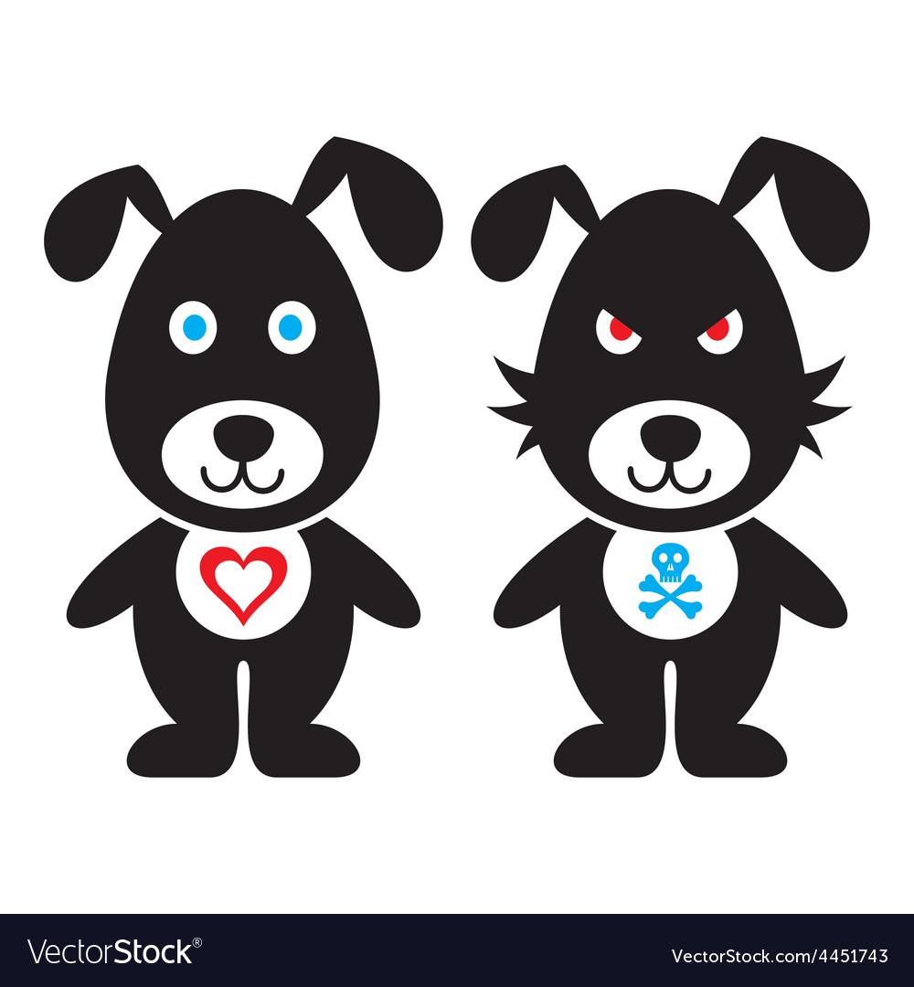 Cartoon dogs vector | Price: 1 Credit (USD $1)