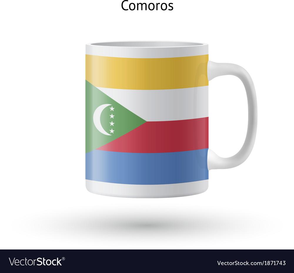 Comoros flag souvenir mug on white background vector   Price: 1 Credit (USD $1)