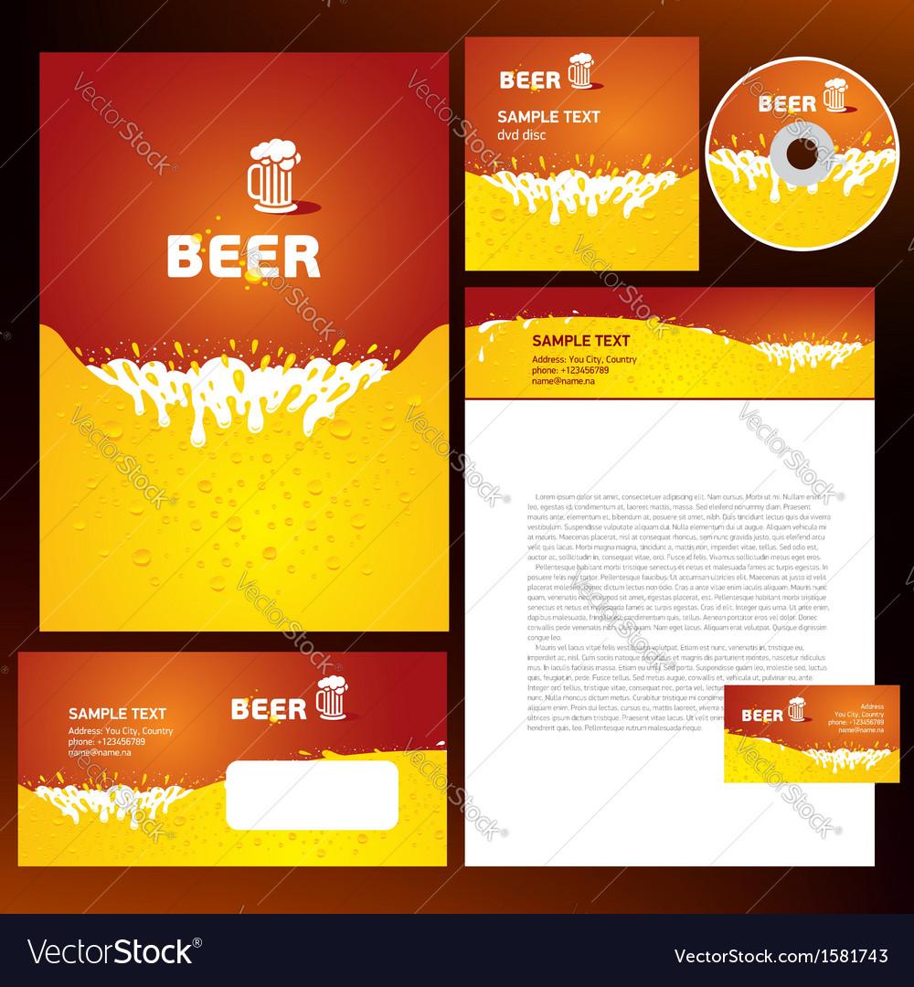 Creative corporate identity beer splash liquid vector | Price: 1 Credit (USD $1)