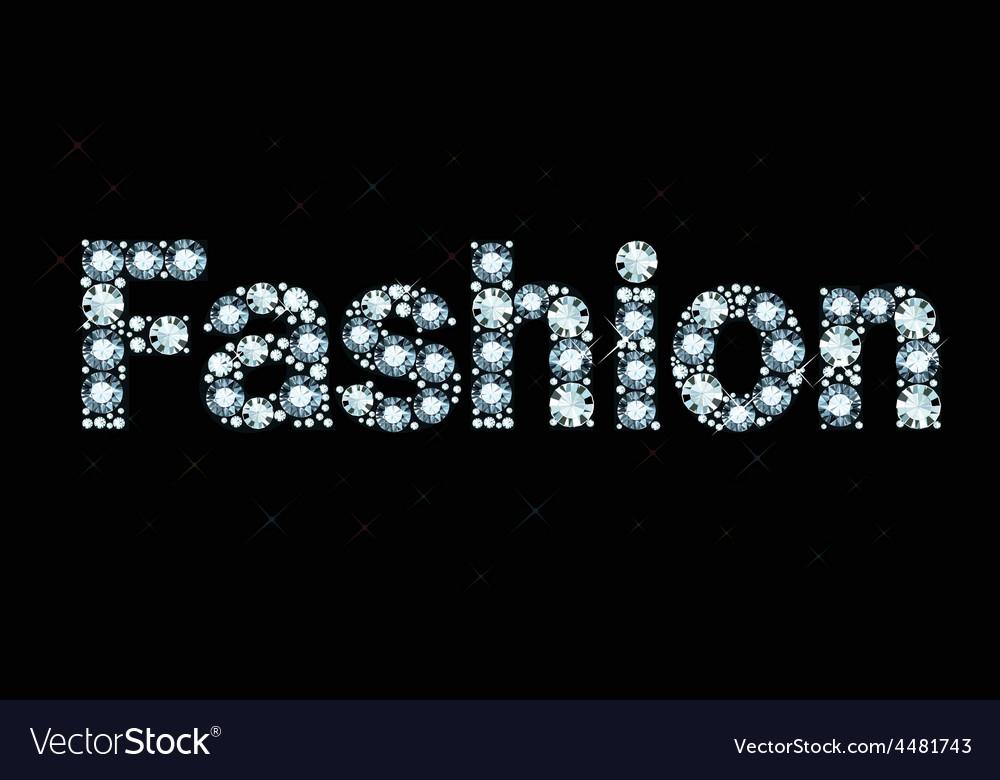 Diamond word fashion vector | Price: 1 Credit (USD $1)