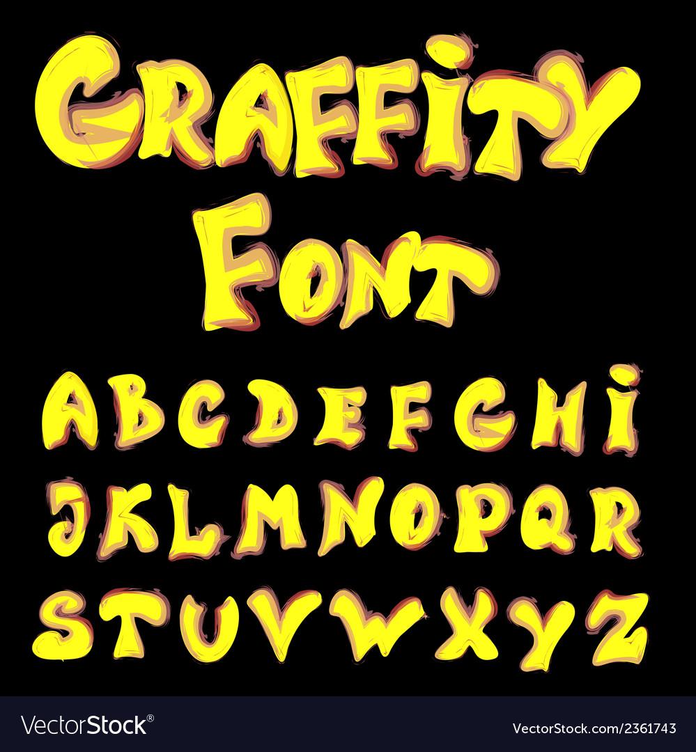 English alphabet in graffiti style vector | Price: 1 Credit (USD $1)