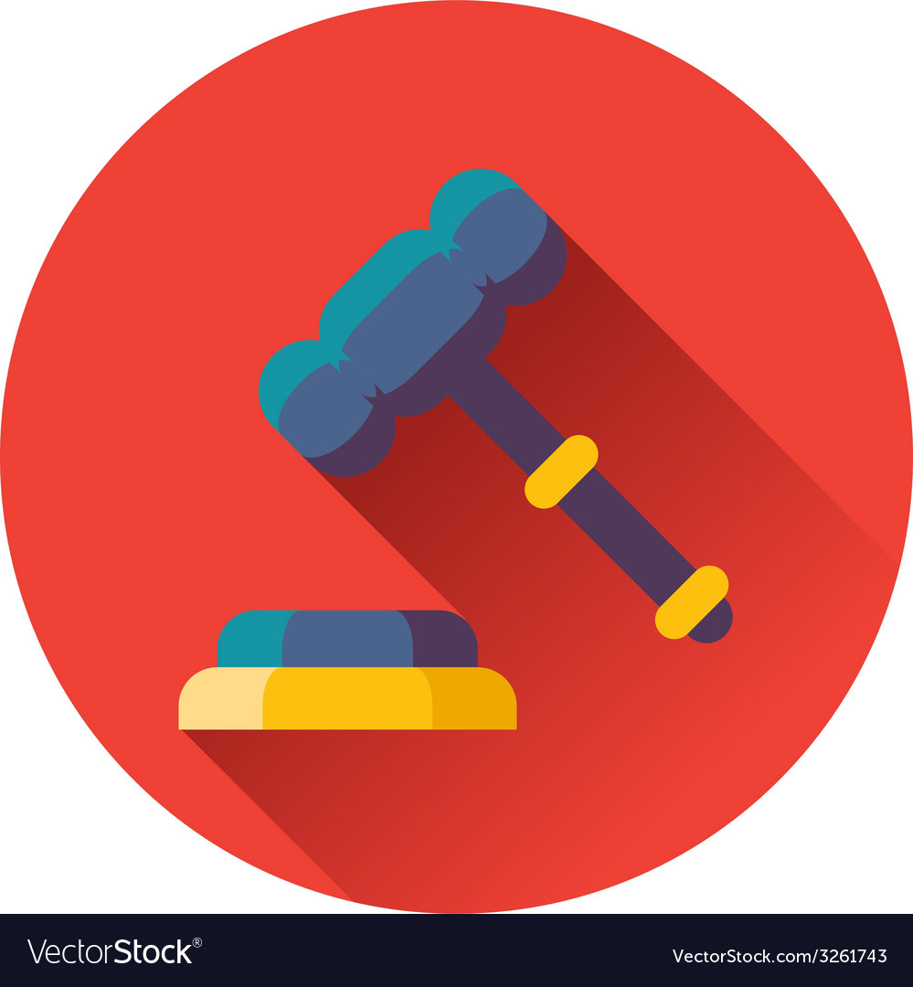 Gavel with stand icon vector | Price: 1 Credit (USD $1)