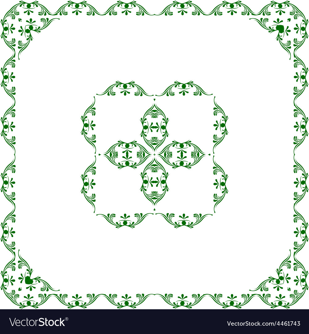 Ornamental frame with center vector | Price: 1 Credit (USD $1)