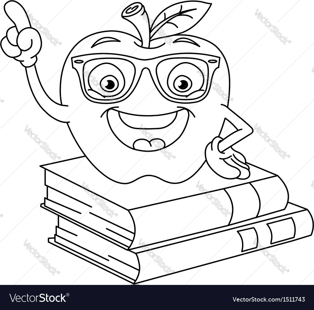 Outlined smart apple vector | Price: 1 Credit (USD $1)
