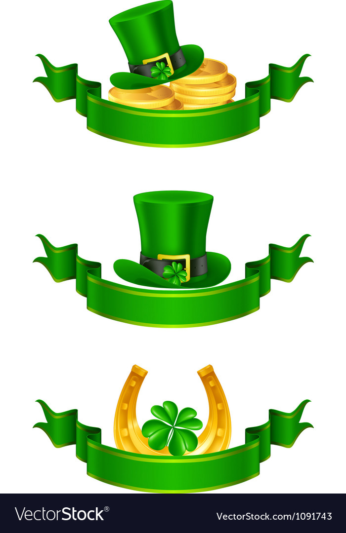 St patricks day banner vector | Price: 1 Credit (USD $1)