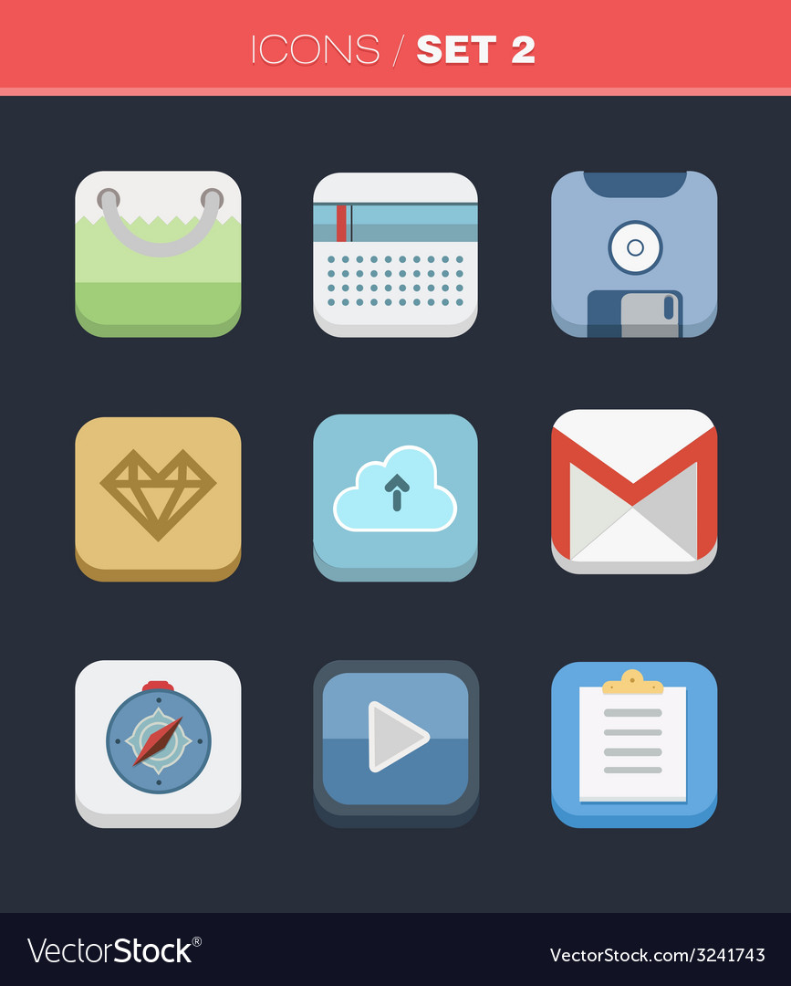 Universal flat icons for web and mobile vector | Price: 1 Credit (USD $1)