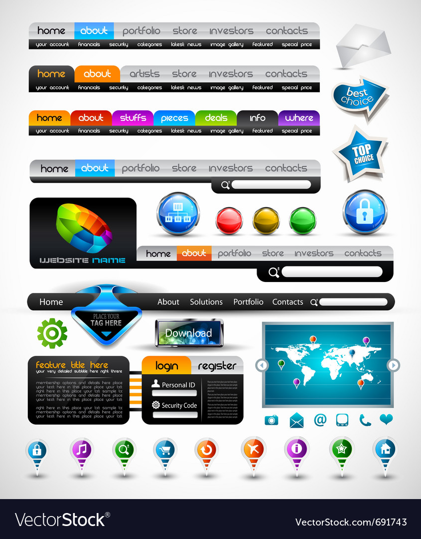 Web premium collection vector | Price: 3 Credit (USD $3)