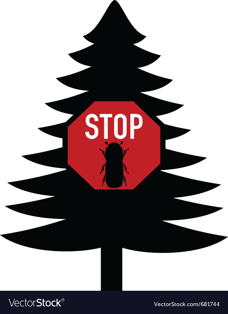 Bark-beetle stop sign vector | Price: 1 Credit (USD $1)