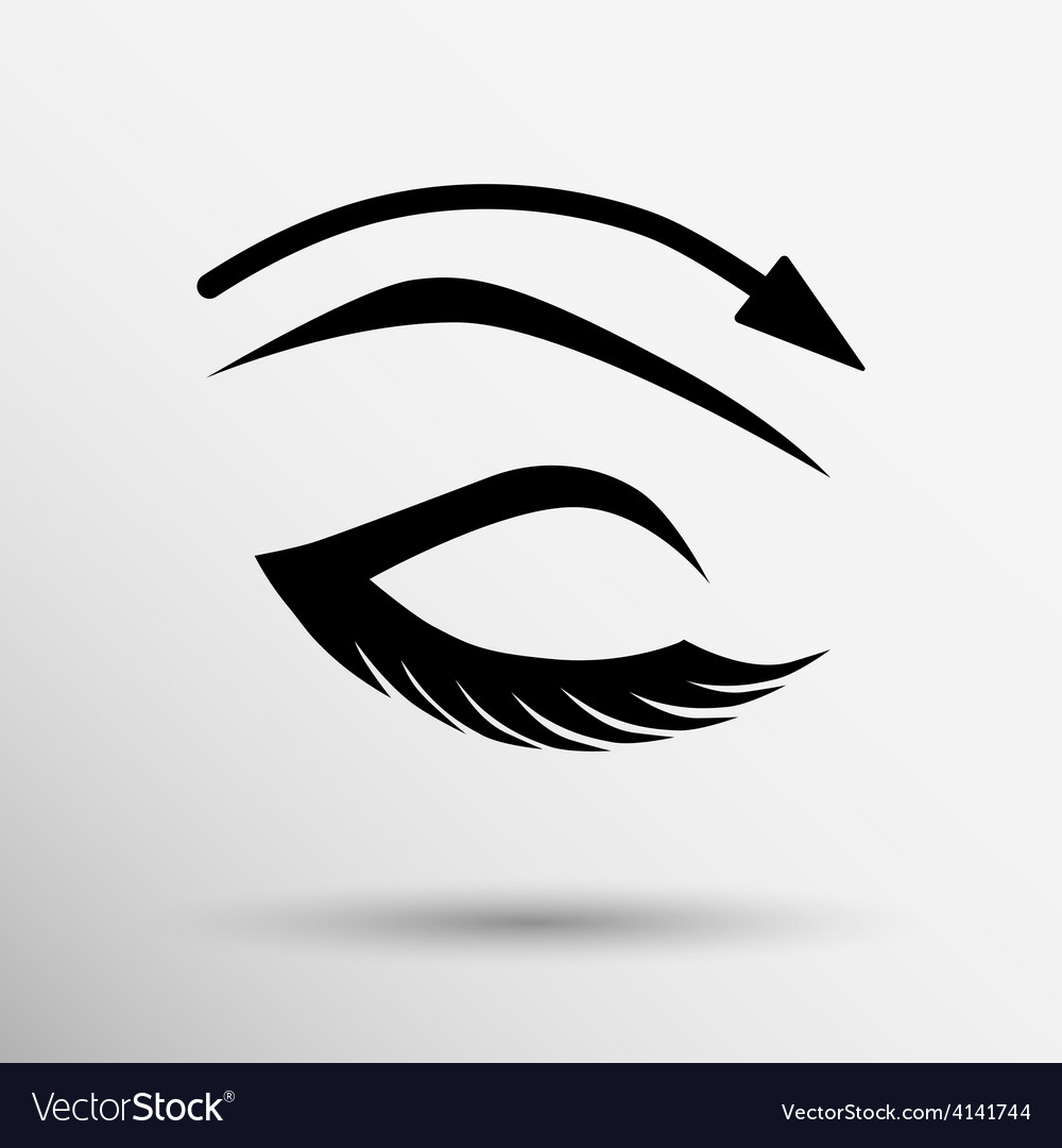 Eyelashes and eyebrows eyelash eye vector | Price: 1 Credit (USD $1)