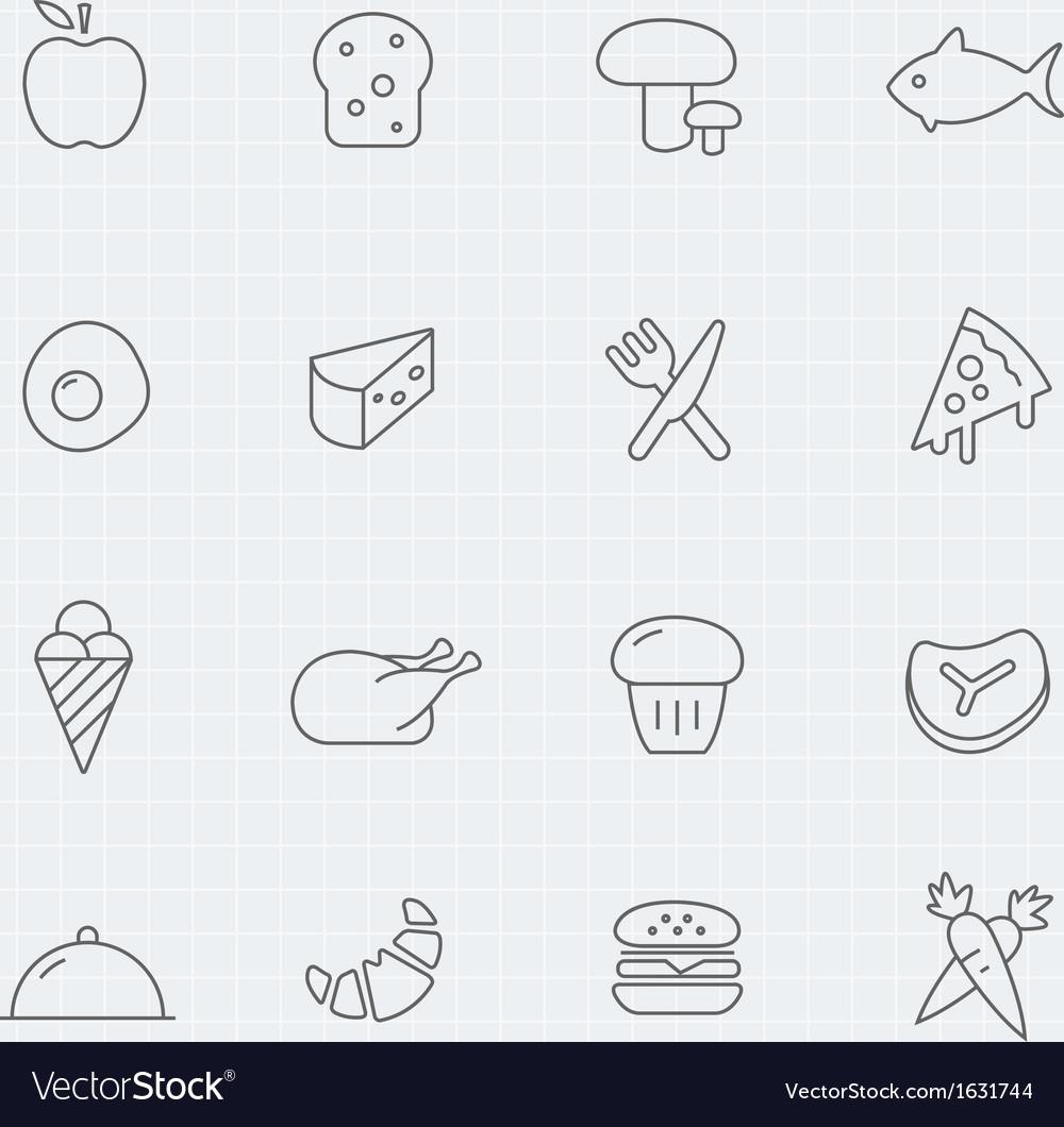 Food thin line symbol icon vector | Price: 1 Credit (USD $1)