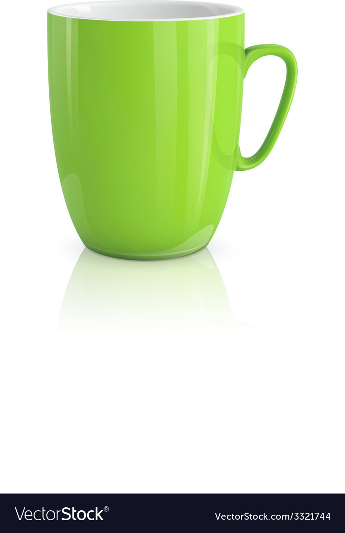 Green cup vector | Price: 3 Credit (USD $3)