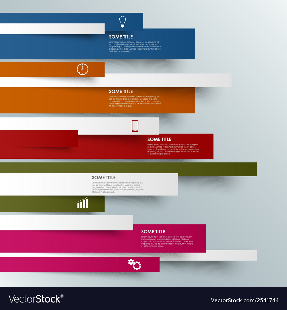 Info graphic colored striped modern template vector   Price: 1 Credit (USD $1)