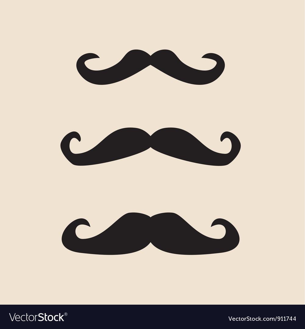 Mustache vintage set vector   Price: 1 Credit (USD $1)