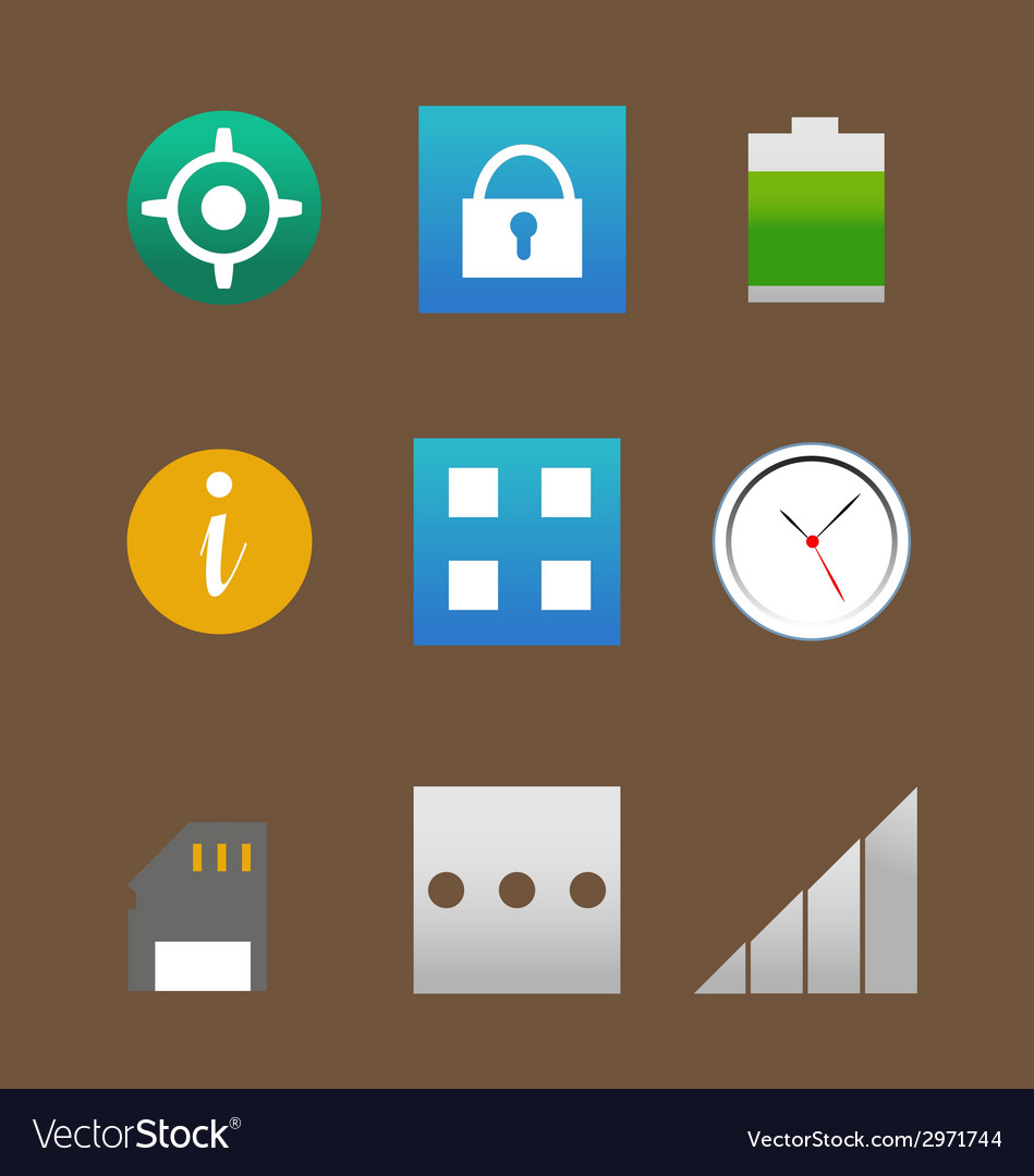 Phone interface icons pack vector | Price: 1 Credit (USD $1)