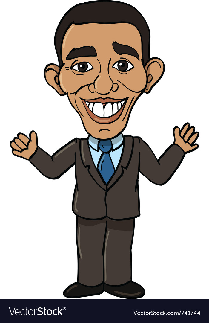 President barack obama vector | Price: 3 Credit (USD $3)