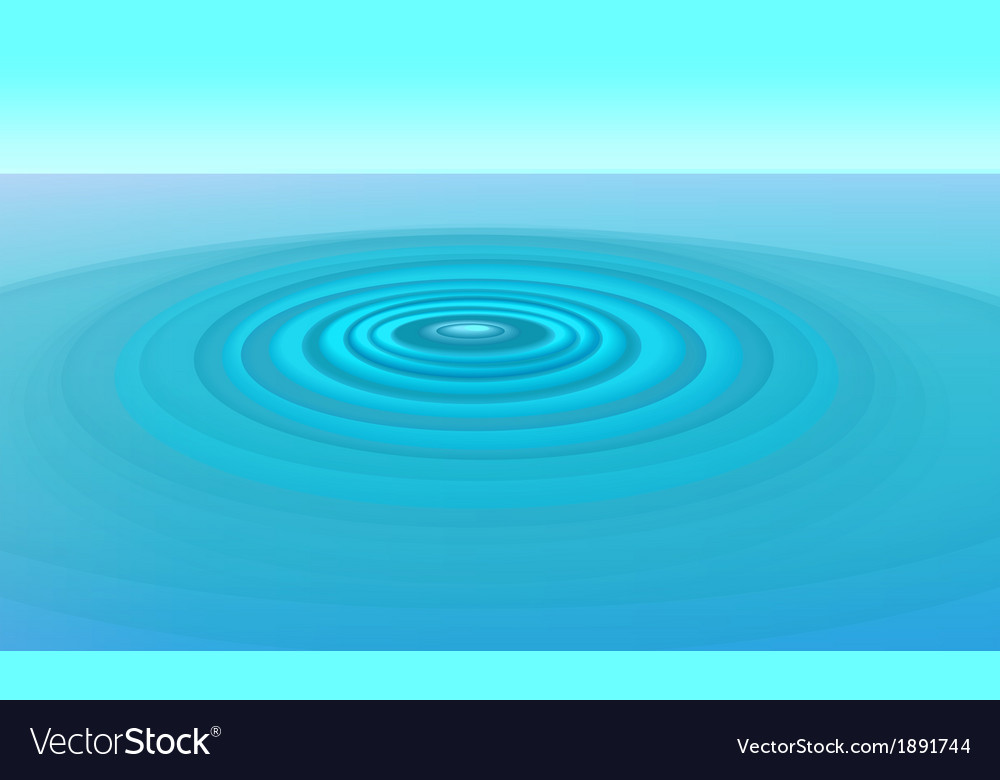 Ripples in water vector | Price: 1 Credit (USD $1)
