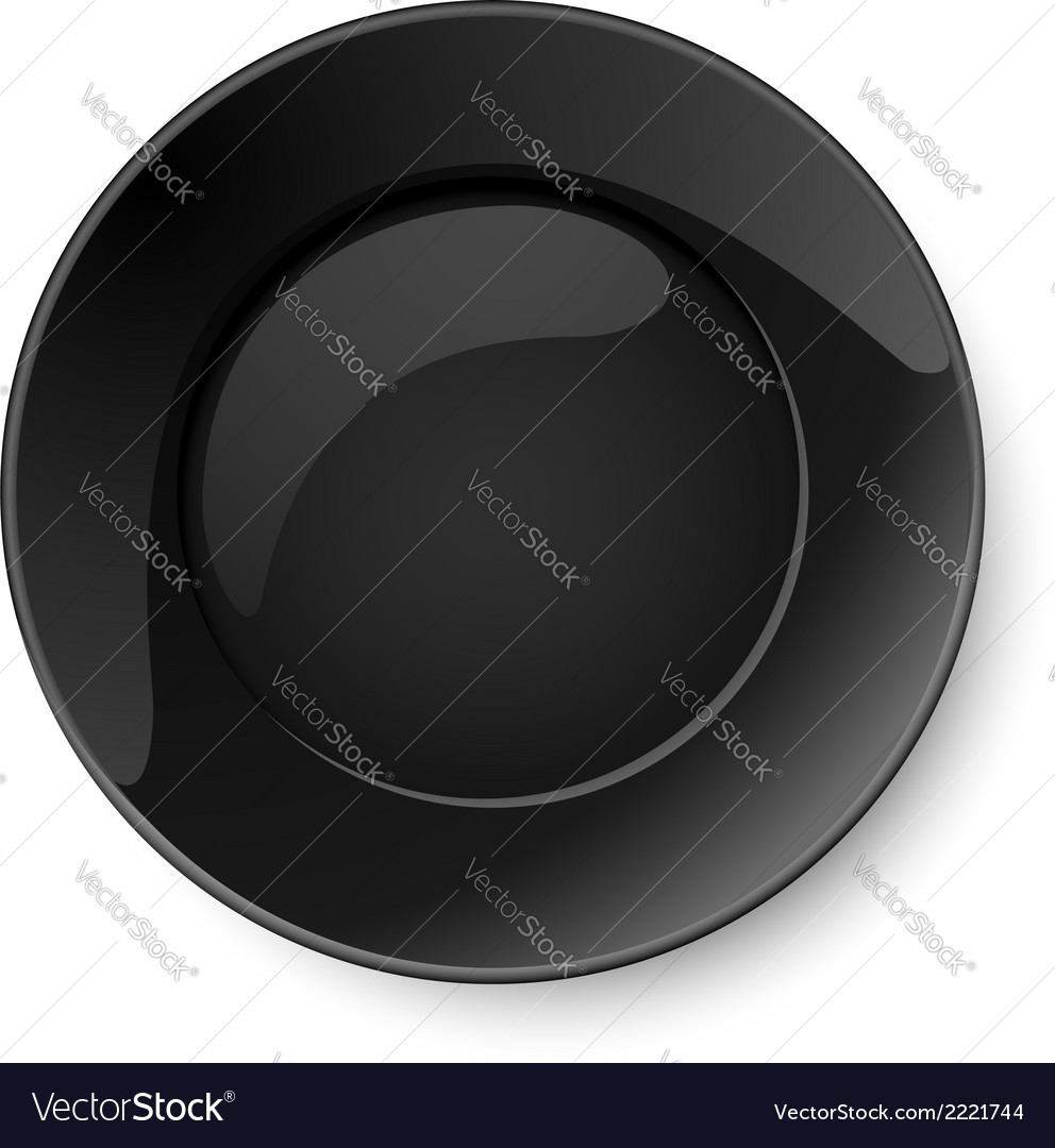 Round black plate vector | Price: 1 Credit (USD $1)