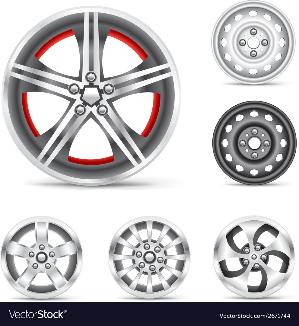 Set of rims vector | Price: 1 Credit (USD $1)