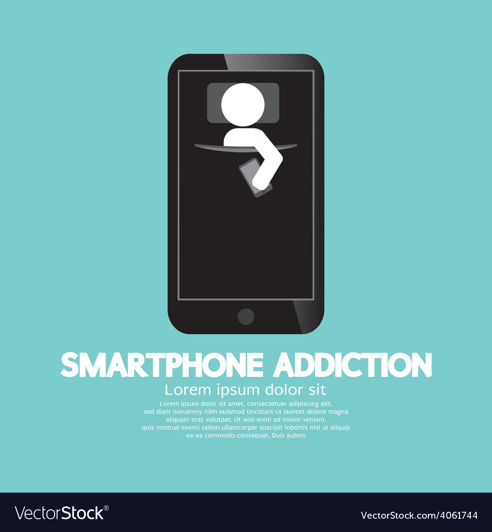 Smartphone addiction concept vector | Price: 1 Credit (USD $1)