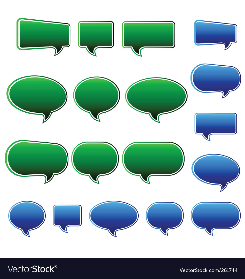 Speech bubbles matt vector | Price: 1 Credit (USD $1)