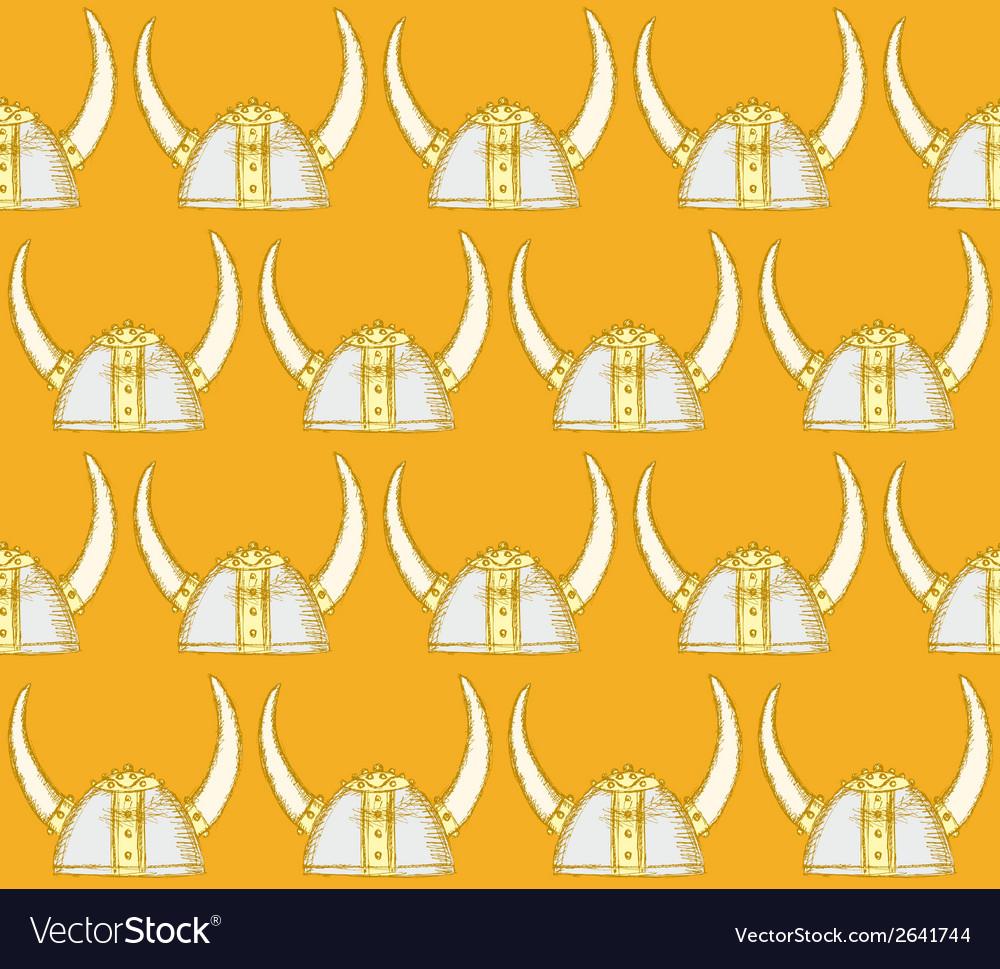 Viking helmet vector | Price: 1 Credit (USD $1)