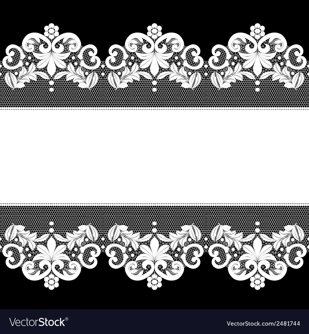 White lace on black background vector | Price: 1 Credit (USD $1)