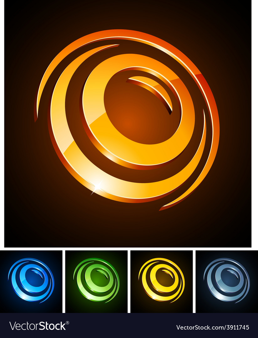 3d round emblems vector | Price: 1 Credit (USD $1)