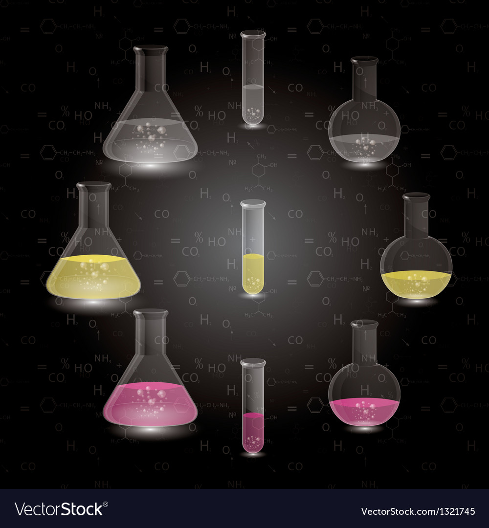 Chemical flasks vector | Price: 1 Credit (USD $1)