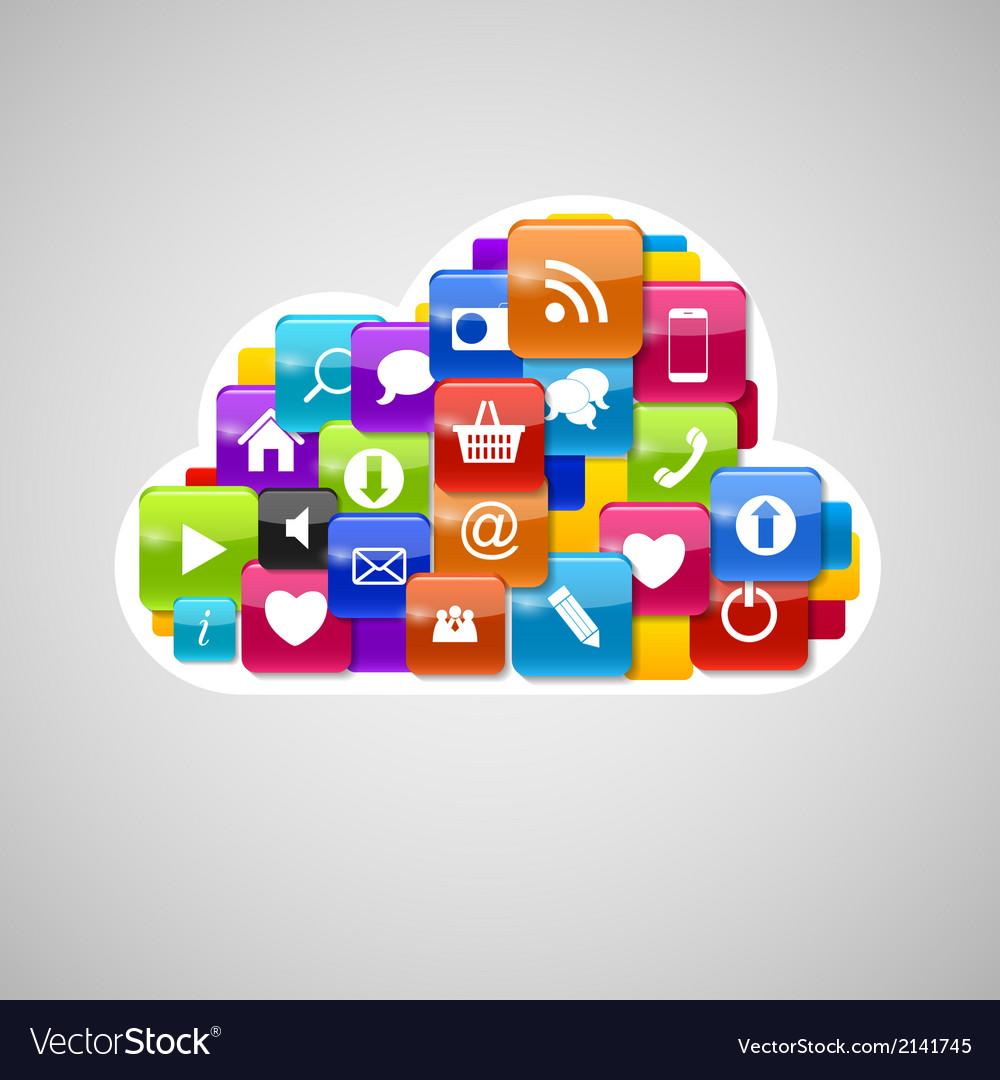Cloud computing icon vector   Price: 1 Credit (USD $1)