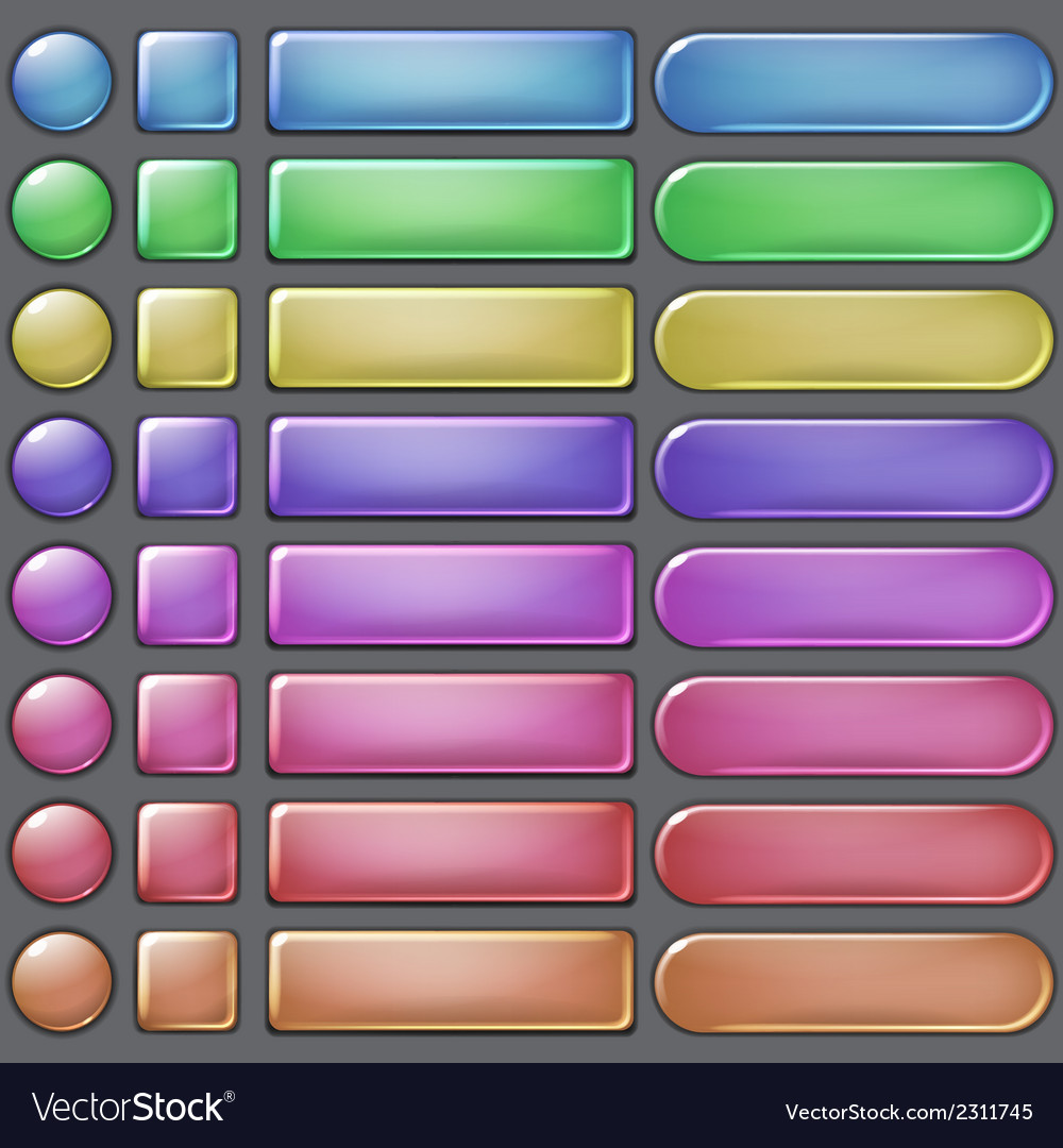 Colored web buttons vector | Price: 1 Credit (USD $1)
