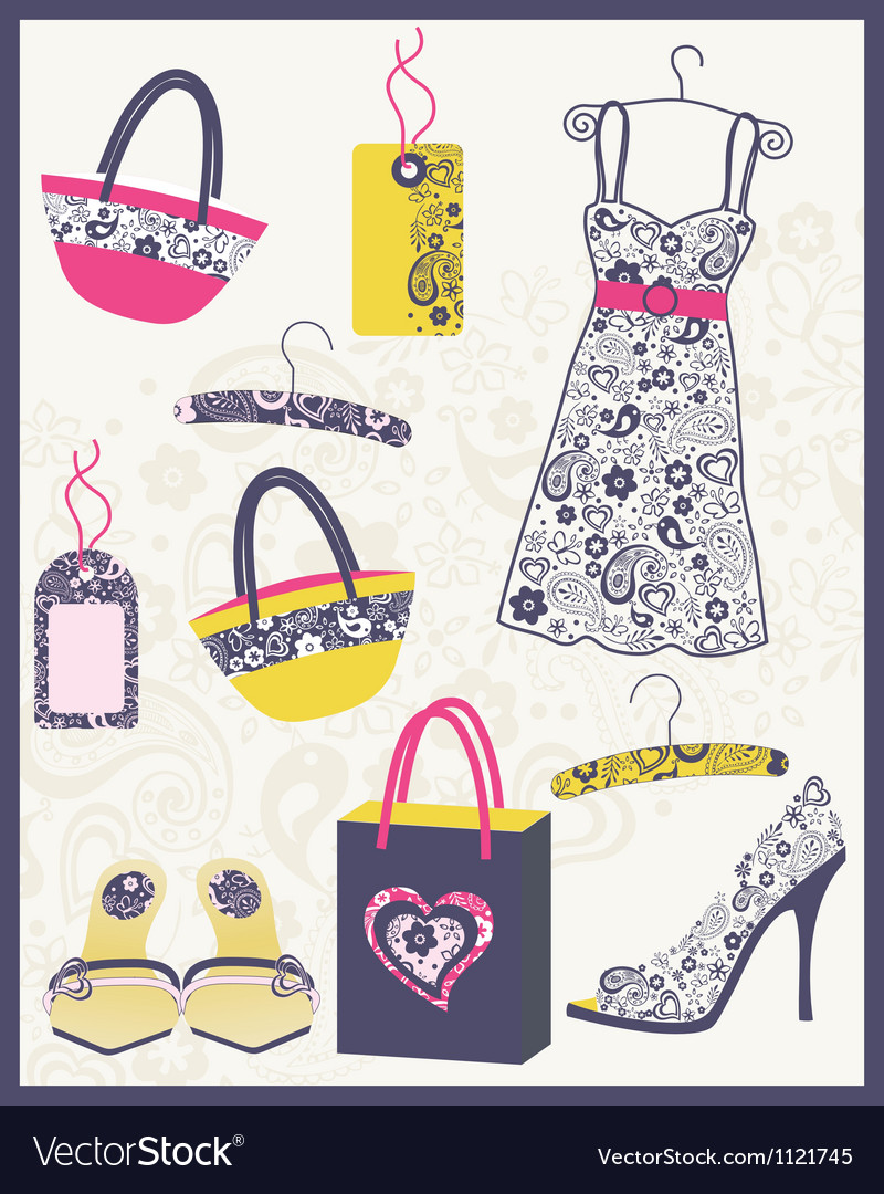 Cute dress card vector | Price: 1 Credit (USD $1)