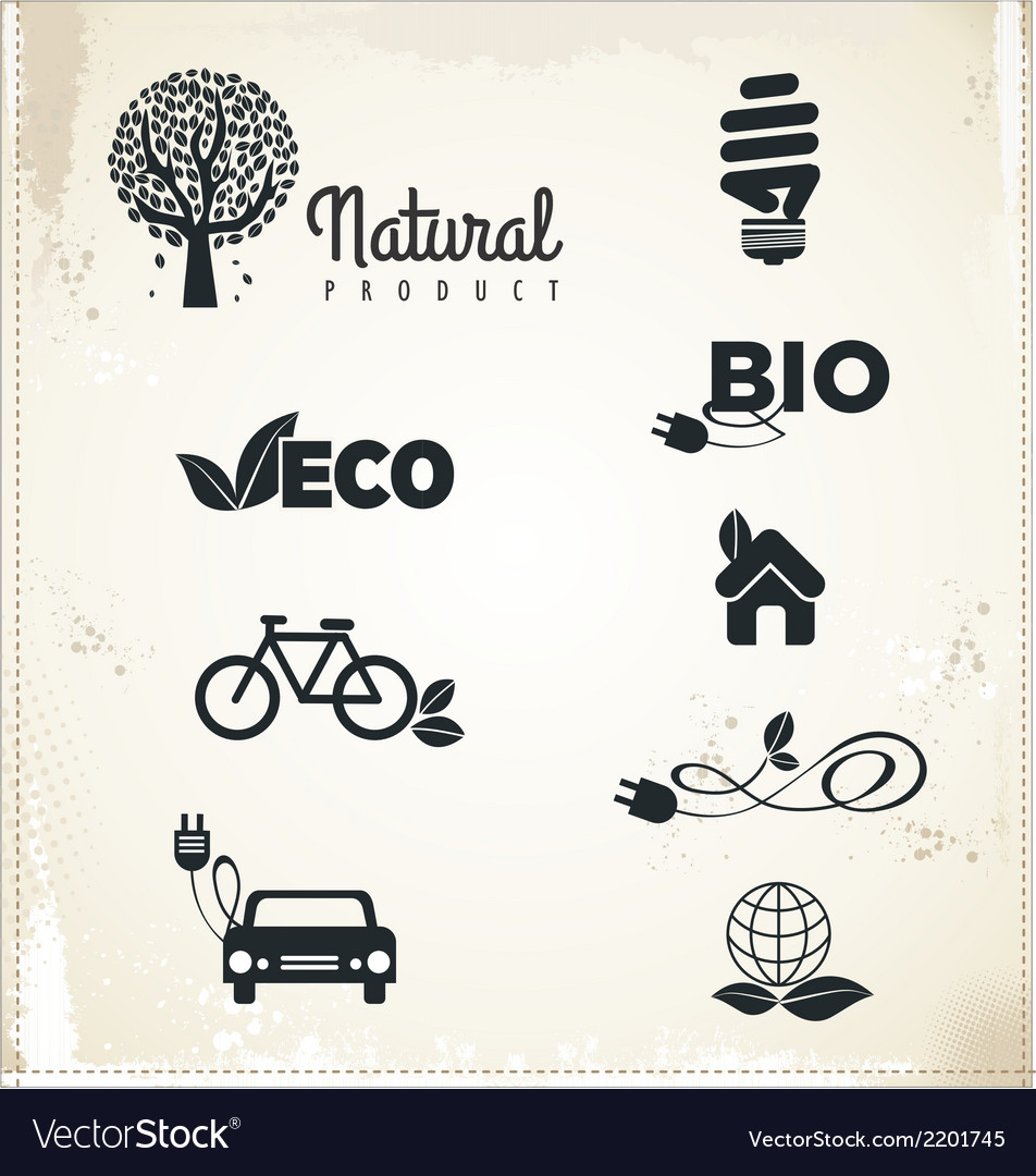 Eco sign vector | Price: 1 Credit (USD $1)