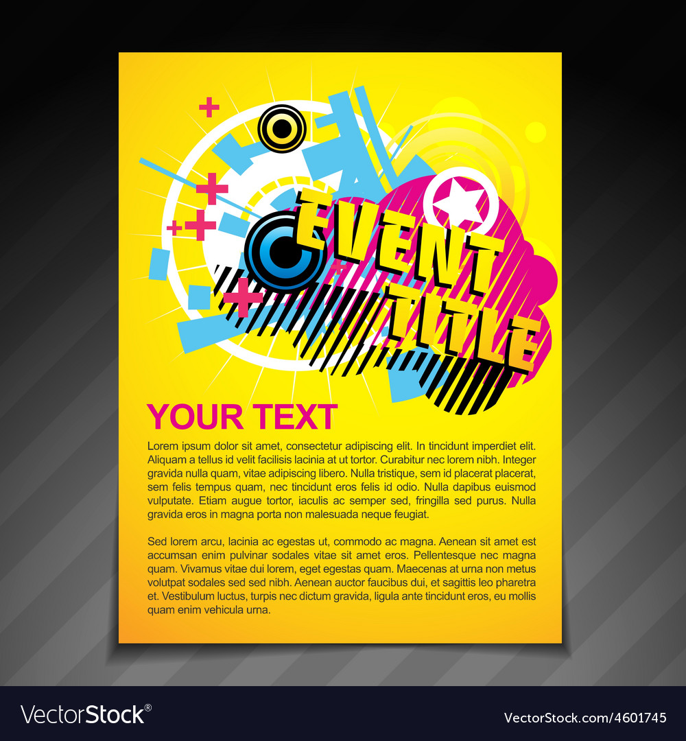 Event brochure flyer vector | Price: 1 Credit (USD $1)