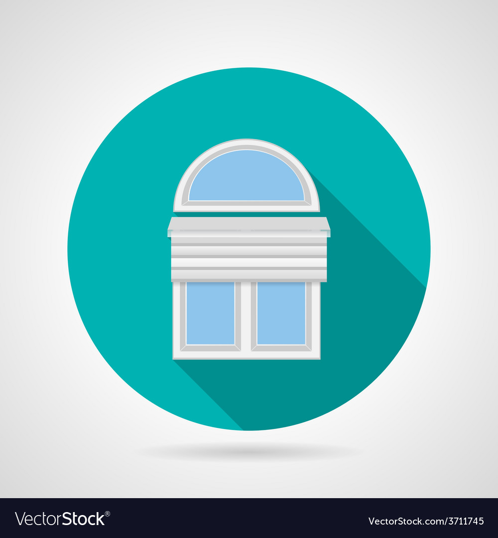 Flat icon for arch window with blinds vector | Price: 1 Credit (USD $1)