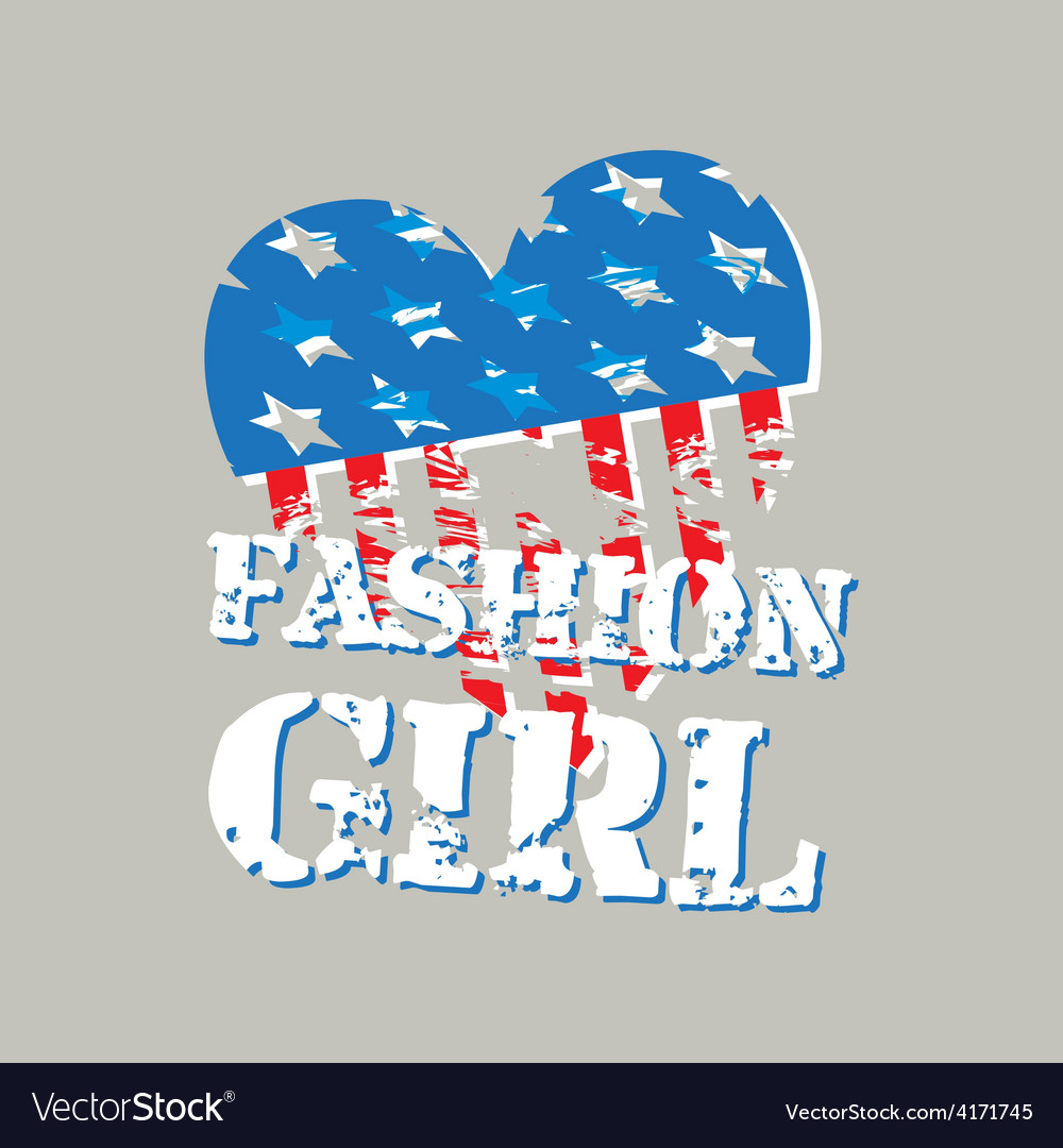 Hearts in form of the american flag vector | Price: 1 Credit (USD $1)
