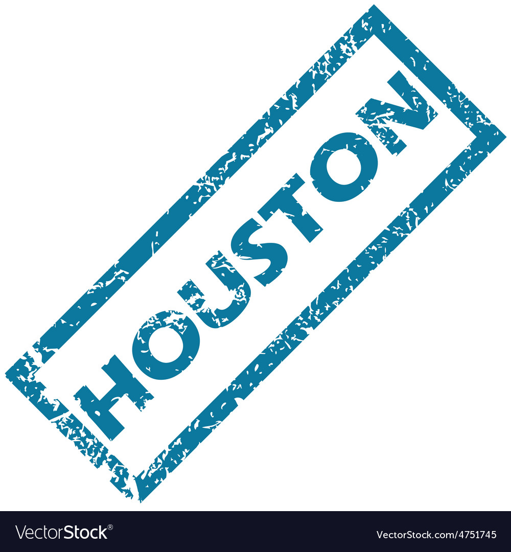 Houston rubber stamp vector | Price: 1 Credit (USD $1)