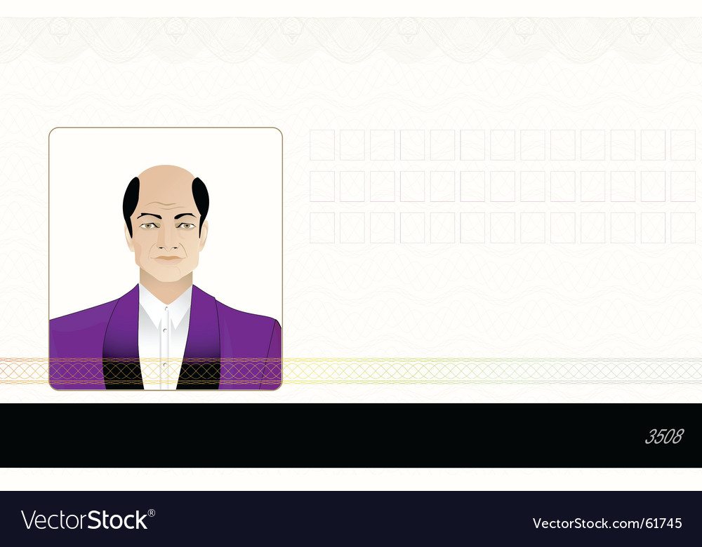 Identification card vector | Price: 1 Credit (USD $1)