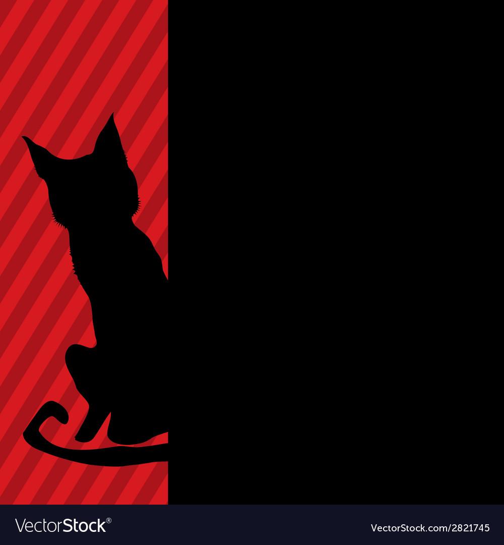 Modern black cat vector   Price: 1 Credit (USD $1)