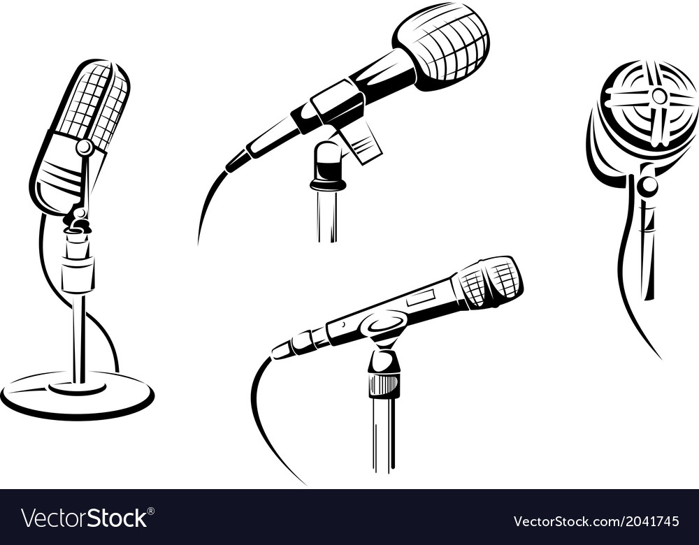 Music microphones vector | Price: 1 Credit (USD $1)