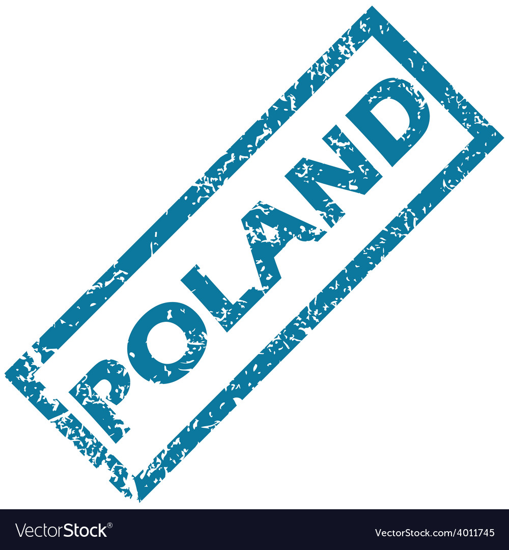 Poland rubber stamp vector | Price: 1 Credit (USD $1)