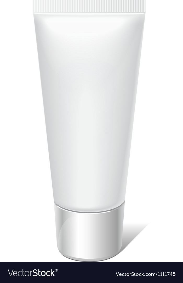 Realistic tube for cosmetics cream tooth paste vector | Price: 1 Credit (USD $1)