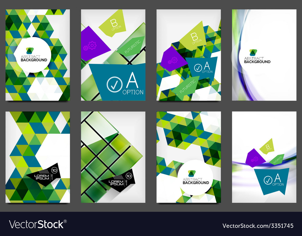 Set of a4 flyers vector | Price: 1 Credit (USD $1)